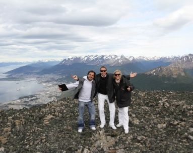 Landing in Andean mountain range